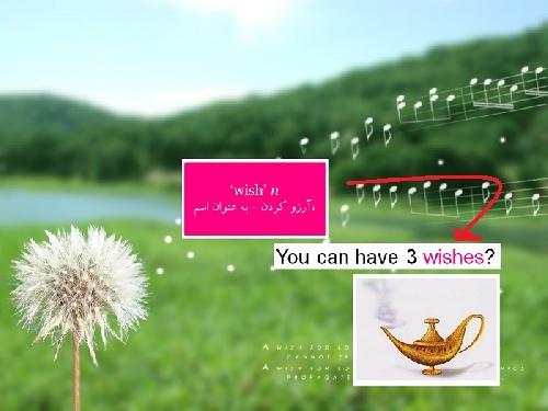 گرامر زبان انگلیسی بخش آرزوها (Whishes)
